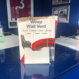 Weep Wall Vent
