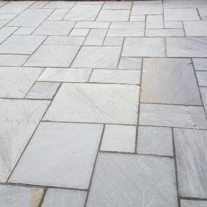 sandstone raj grey blend paving pack 18mm calibrated